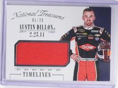 2016 National Treasures Timelines Austin Dillon Firesuit #D01/25 #TAD *64547
