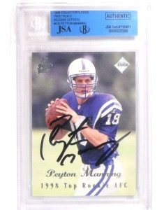 1998 Collector's Edge 1st Place Peyton Manning autograph rc JSA Slabbed *56357