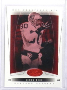 2004 Fleer Hot Prospects Red Hot Jerry Rice #D08/50 #5 *33558