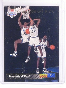 92-93 Upper Deck Shaquille O'neal rc rookie #1 *52961