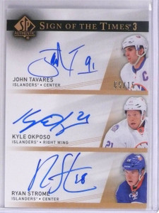 2014-15 Sp Authentic Sign Times John Tavares Okposo Strome autograph #D5/15 *563