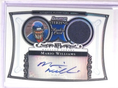 2006 Bowman Sterling Refractor Mario Williams Jersey Autograph #D064/199 *67173