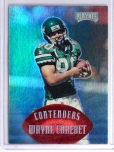 1997 Playoff Contenders Red Parallel Wayne Chrebet #D11/25 #100 *32183