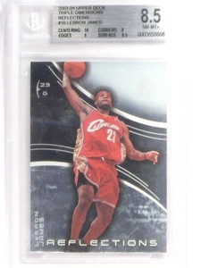 03-04 Upper Deck Triple Dimensions Reflections Lebron James rc rookie #10 *49282