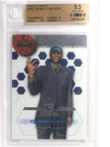 02-03 Topps Finest Carmelo Anthony rc rookie #180 BGS 9.5 GEM MINT *49275