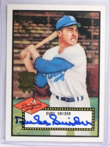 2002 Topps 1952 Reprints World Series Duke Snider autograph auto #DSA *57811