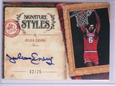 2006-07 SP Signature Edition Styles Julius Erving Autograph #D02/25 #SMJE *65674