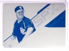 2006 UD SPx Printing Plate Cyan Jason Bergmann Rookie RC #D1/1 #106 *67190