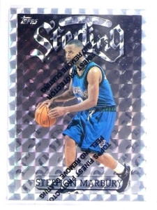 1996-97 Finest Refractor Silver Uncommon Stephon Marbury Rookie RC #253 *64279