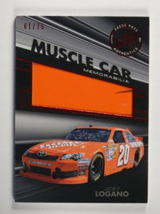 2012 Press Pass Redline Muscle car Joey Logano sheet metal #D61/75 *35166