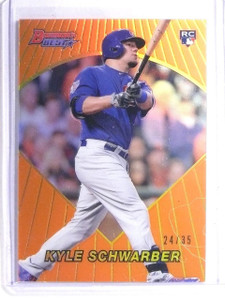2016 Bowman's Best '96 Orange Refractor Kyle Schwarber Rookie #D24/35 *66077