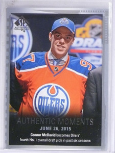 2015-16 SP Authentic Moments Connor McDavid Rookie #153  *61212