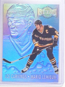 1996-97 Metal Universe Ice Carvings Super Power Mario Lemieux #10  *61544