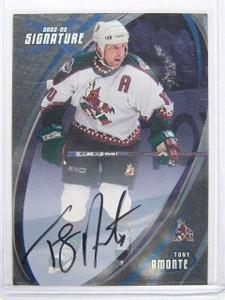 02-03 BAP Signature Series Tony Amonte auto autograph #115 Sp! *24822