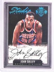 2014-15 Court Kings John Salley Studio Signatures Autograph #D04/25 #STJS *53712