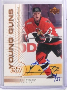 2001-02 SP Authentic Buybacks Martin Havlat Autograph Young Guns #D30/37 *59601