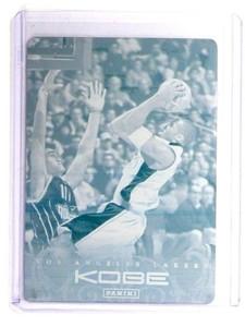 2013 Kobe Anthoology Kobe Bryant #72 Cyan Printing Press Plate #D 1/1 *52254