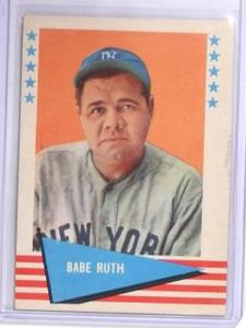1961 Fleer Babe Ruth #75 EX *60533