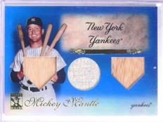 2009 Topps Tribute Blue Mickey Mantle Triple Bat Jersey #D41/75 #7 *65676