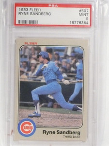 1983 Fleer Ryne Sandberg Rookie RC #507 PSA 9 Mint *58718