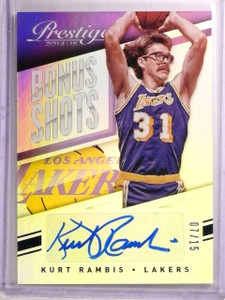 2014-15 Prestige Bonus Shots Purple Kurt Rambis Autograph #D07/15 #85 *66805