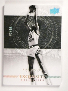 2013-14 UD Exquisite Collection Alex English Silver #D03/10 #12 *51059