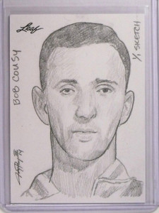 2014 Leaf Best Of Basketball Bob Cousy Sketch #D 1/1 by Jay Pangan *50679