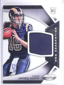 2016 Panini Certified New Generation Jared Goff Rookie Jersey #1  *60865