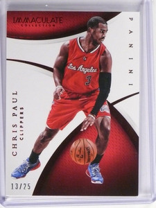 14-15 Panini Immaculate Collection Red Chris Paul #D13/25 #27 *48947