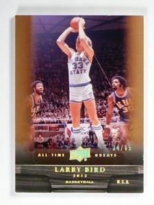 2012 Upper Deck All Time Greats Larry Bird #D34/65 Bronze Indiana State *47599