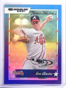 2001 Donruss Stat Line Season Tom Glavine #D63/91 #36 *60097