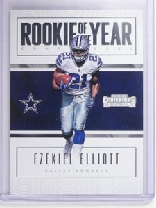 2016 Panini Contenders ROY Rookie of the year Ezekiel Elliott Rookie RC #1 *6468