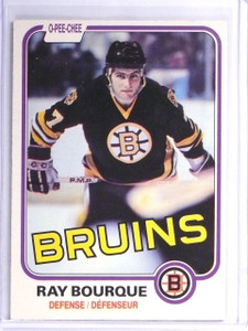 1981-82 O-Pee-Chee Ray Bourque Boston Bruins #1 ex *57036
