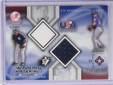 2002 SPx Winning Materials USA Giambi Teixeira Dual Jersey #D111/150 #USAGT *650