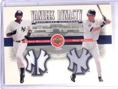 2002 Upper Deck Yankee Dynasty  Bernie Williams O'Neill Dual Jersey #YJWO *60320