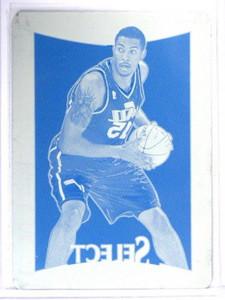 12-13 Select Derrick Favors Cyan Printing Press Plate #D 1/1 *40833
