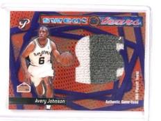 2001-02 Topps Pristine Avery Johnson Sweat & Tears NBA Playoffs Towel *45930