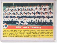 1956 Topps New York Yankees TC Team Card #251 VG-EX Small Back Stain  *61009
