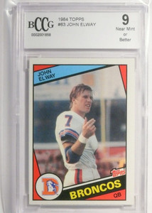 1984 Topps John Elway rc rookie #63 BCCG 9 NM or Better *52078