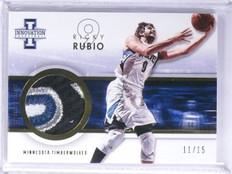 2012-13 Panini Innovation Ricky Rubio Prime 4 color patch #D11/15 #17 *55917