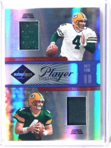 2005 Leaf Limited Player Threads Brett Favre dual prime patch #D21/25 *39244