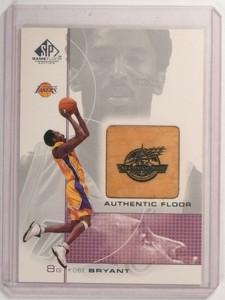 00-01 Sp Game Floor Edition Kobe Bryant #KB Authentic Floor Piece *52377