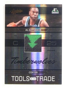 2009-10 Absolute Memorabilia Al Jefferson Jersey Patch Prime #D15/25 #TOTT2 *510
