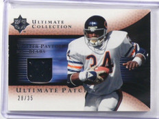 2005 Ultimate Collection Gold Patches Walter Payton patch #D28/35 #GJP-WP *39247