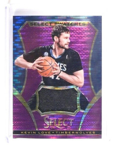 2013-14 Panini Select Kevin Love Swatches Jersey #d72/99 Purple Prizm *46923