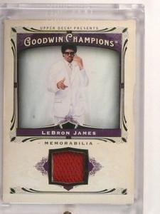 2013 Upper Deck Goodwin Champions Lebron James jersey #M-LJ *46789