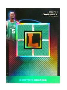 07-08 Topps Letterman Kevin Garnett quad jersey refractor #D3/5 #Qp-KG *46267