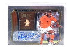 2015 Panini Select Soccer Historic Signatures Patrick Kluivert auto /199 *52164