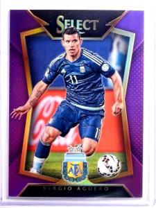 2015 Select Soccer Sergio Aguero Purple Prizm #D45/99 #62 *54026