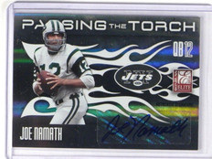 2010 Donruss Elite Passing The Torch Joe Namath & Mark Sanchez auto #D12/25 *352